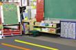 carpet floor tape in classroom floor