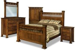 The Sequoyah Bedroom Collection bears an inspired design.
