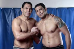 Founders of Team Nogueira, Antonio 'Minotauro' Rodrigo (right) posing with his brother Antonio 'Minotoro' as they gear up for the opening of the new facility in Orlando, FL.