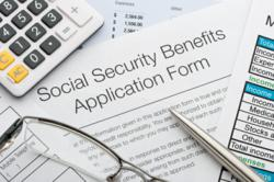 Social security benefits forms.