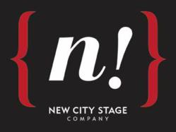 New City Stage Company new logo, black background, released 7/31/2012.
