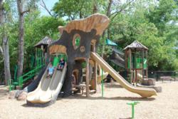 GameTime custom playground tree sculpture with slides
