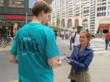 Volunteers distributed Truth About Drugs booklets in Zaandam, to help youth make informed decisions to live drug-free lives.