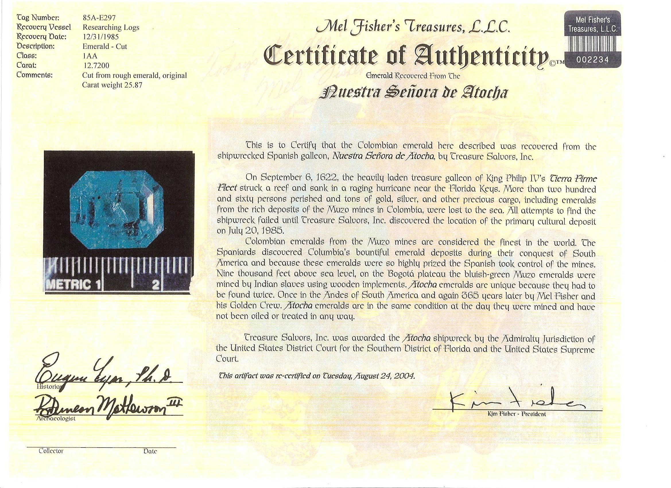 Awesome sample certificate of authenticity pictures top resume certificate of authenticity autograph template image collections xflitez Image collections