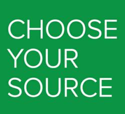 Choose Your Source Campaign Logo, Part of the Pure Source Initiative