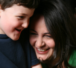 Christine Agro, The Conscious Mom with her son Caidin