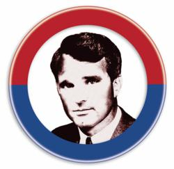 "Russ Widdall as Senator Robert F. Kennedy in New City Stage's ""RFK""."