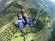 GoPro and XShot paragliding self-portrait