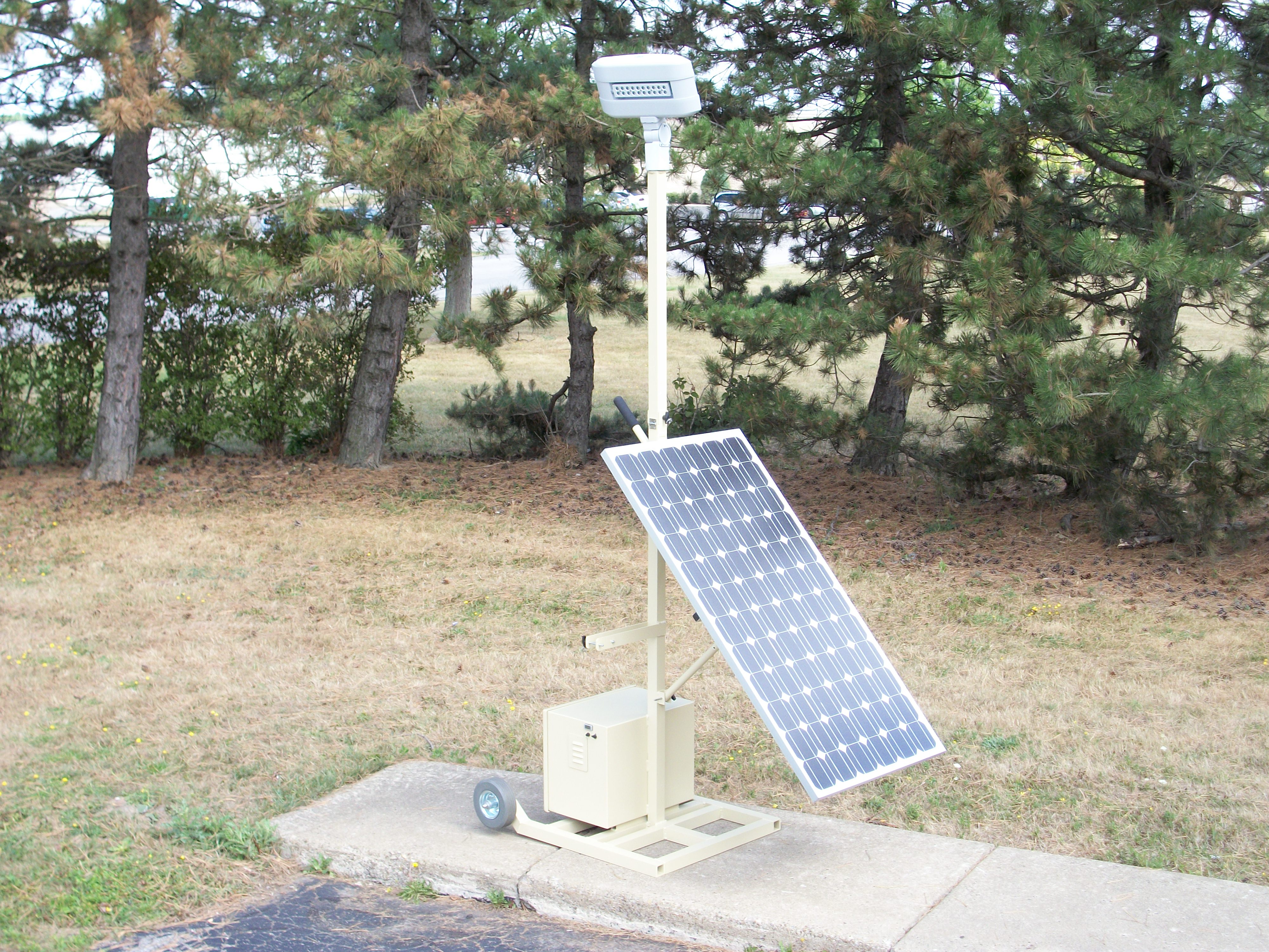 Portable Solar Powered LED Floodlight