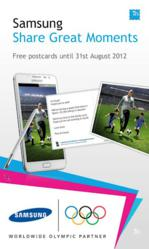 Samsung announced that it has partnered with Touchnote to extend the London celebrations to everywhere in the world by inviting everyone to send real, printed postcards for free to commemorate their favorite moments this summer