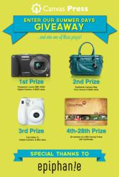 giveaways, sweepstakes, free giveaways, facebook giveaways, canvas press, epiphanie bags, free photography gear