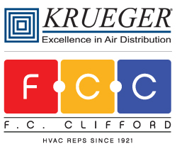 Krueger-HVAC and F.C. Clifford Logos