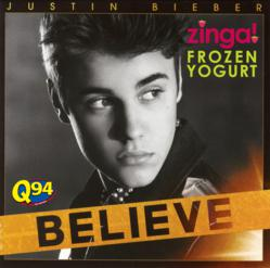 Register at Zinga to win TWO tickets to see Justin Bieber in Wash, DC!