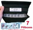 5 per Day Pill Box Weekly Organizer Medication Management Systems SKU 941323
