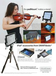 Mount your iPad to a tripod or use hands-free on desktop at any screen angle.