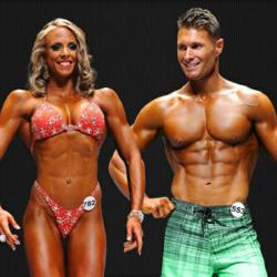 Fahrenheit Nutrition Athletes, Dawn Hinz-Pugh and Trent Calavan,  earned pro cards last month at the NPC USA Bodybuilding, Figure, Men and Women's Physique and Bikini Championships in Las Vegas, NV