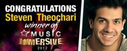 StarNow Music Immersive winner, Steven Theochari.