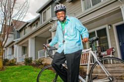 Enthusiast Biker in New Columbia, Portland