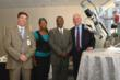Dr. Amine Abdul-Aal, Kenya Franklin, Mayor Doug Franklin and John Finizio, president, St. Joseph Health Center, with the da Vinci surgical system.