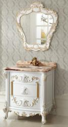 White Antique Bathroom Vanity From Legion Furniture
