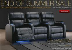 End of Summer 2012 Landing Page for Theater Seat Store