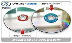 DualDiscs are Both a CD and DVD in One Convenient Disc