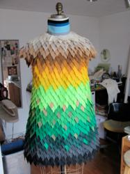 "Dress designed for Gabby Wild's ""12 for 12 in 12"" Animal Activist Campaign using the AccuQuilt GO! Fabric Cutter."