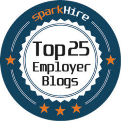 Top 25 Must Read Blogs for Employers Badge