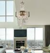 Parisienne 3-Light Chandelier In Silver Leaf From ELK Lighting