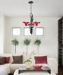 Villa Cherry Glass Floral Chandelier From Elk Lighting