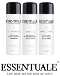 "ESSENTUALE Shampoo, Conditioner, Body Wash ""Spa Set"""