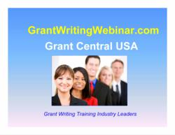 Grant Central USA - Grant Writing Webinar