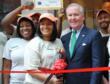 Tampa Mayor Bob Buckhorn at ribbon cutting of Inside the Box Cafe