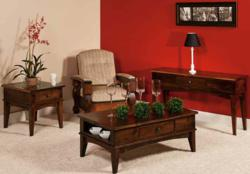 The Amarillo Occasional Table Set features a classic American design.