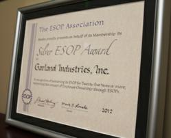 Garland named a Silver ESOP Award Winner photo