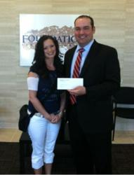 Foundation Financial Group presented check to the 'A Heart for Andrea' cause