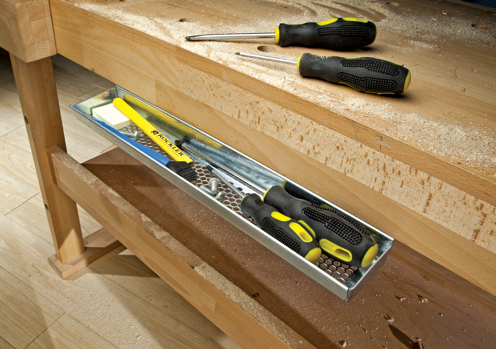 Rockler S New Undermount Utility Tray Workbench Storage