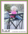 The Hollett Travel Dual-Mate high chair is the only portable and foldable dual-purpose high chair that is ideally suited for including newborn babies in the family dining experience because parents can literally use this dual-purpose high chair the same