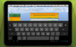 Screenshot of Splahstop 2 on-screen keyboard on Android tablet editing a file