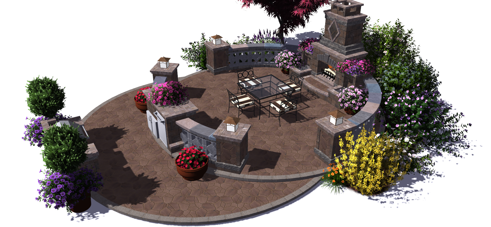 Visionscape interactive llc transforms landscape design for Virtual garden design