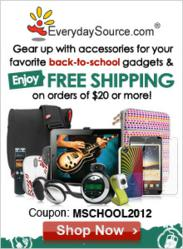 Free Shipping for Back to School Orders of $20+ at EverydaySource.com