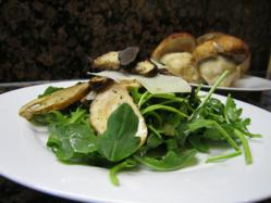 Porcini mushroom and truffle salad