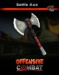 BrickArms Battle Axe featured in Offensive Combat game.