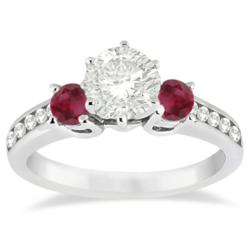 Allurez.com allows customers to build engagement rings with gemstones. Center stones are not limited to white diamonds.