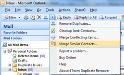 Remove Junk contacts and Merge Similar contacts