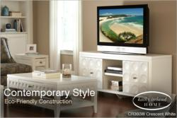 Kathy Ireland Home Furnishings by Martin Furniture Crescent White TV Console