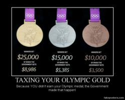 Will the IRS Tax Olympic Medalists?