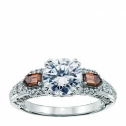 man made diamond, affordable engagement ring, lorian platinum, sale