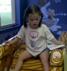 Down syndrome education center installs new play area to help children with physical, occupational and speech therapy needs
