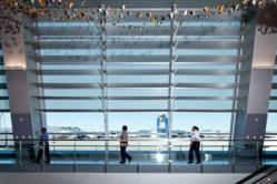 Solar shading panels at McCarran International Airport Terminal 3